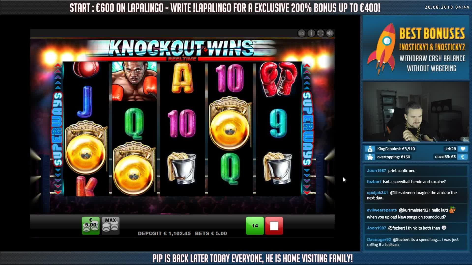 €980 Daily freeroll slot tournament at Karamba Casino